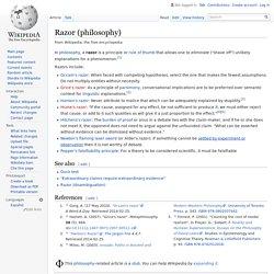 Razor (philosophy)