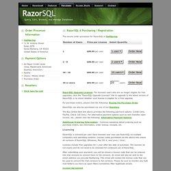 RazorSQL - Purchasing Page
