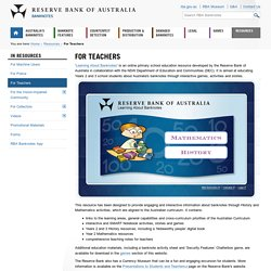RBA Banknotes: For Teachers