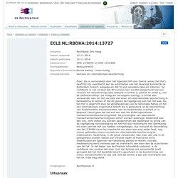 ECLI:NL:RBDHA:2014:13727, Rechtbank Den Haag, AMS 13/30849 en AMS 13/31008