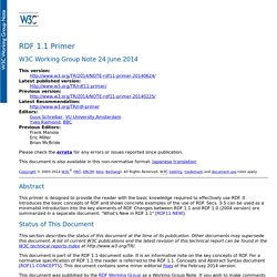 RDF 1.1 Primer
