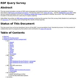 RDF Query Survey