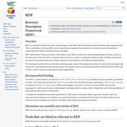 RDF - Semantic Web Standards