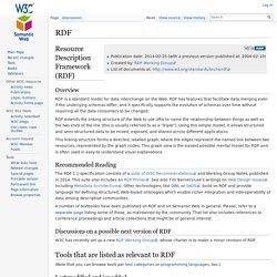 RDF - Semantic Web Standards