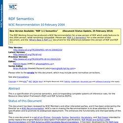 RDF Semantics