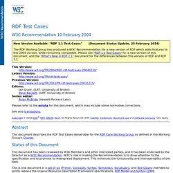 RDF Test Cases