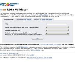 RDFa 1.1 Validator