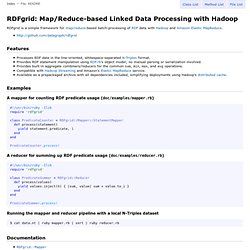 RDFgrid - Map/Reduce-based Linked Data Processing with Hadoop