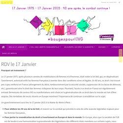 RDV le 17 Janvier - Bougez pour l'IVG