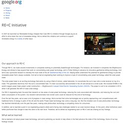 RE<C - A Google.org Project to Develop Electricity from Renewable Energy Sources