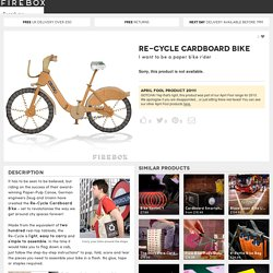 Re-Cycle Cardboard Bike at Firebox.com