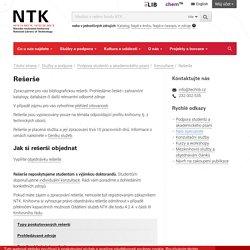 Rešerše - Národní technická knihovna