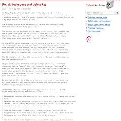 vi: backspace and delete key