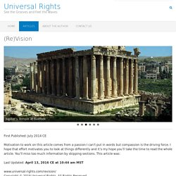 (Re)Vision – Universal Rights