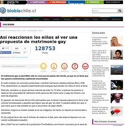 Así reaccionan los niños al ver una propuesta de matrimonio gay