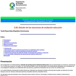 2.20. Estudio de las reacciones de oxidación-reducción