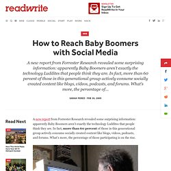 How to Reach Baby Boomers with Social Media - ReadWriteWeb