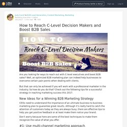 How to Reach C-Level Decision Makers and Boost B2B Sales - beBee Producer