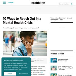 10 Ways to Reach Out in a Mental Health Crisis