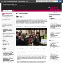 UCL Digital Education team blog