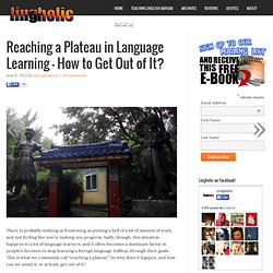 Reaching a Plateau in Language Learning – How to Get Out of It?