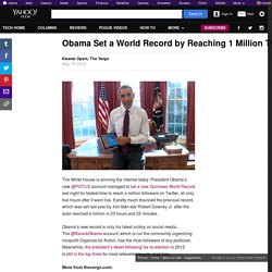 Obama Set a World Record by Reaching 1 Million Twitter Followers in Five Hours