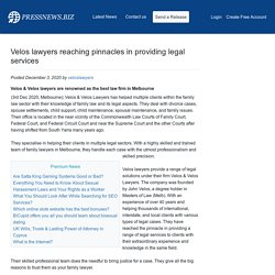 Velos lawyers reaching pinnacles in providing legal services