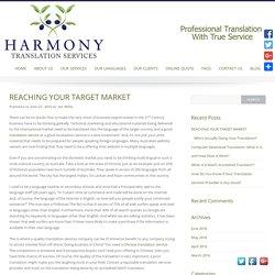 Harmony Translation Services Australia