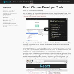 React Chrome Developer Tools