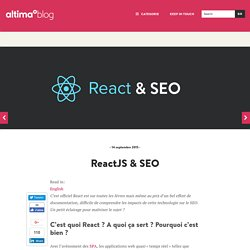 SEO & React ∴ Isomorphism & indexation