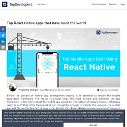 Top React Native apps that have ruled the world
