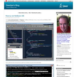 React.js and NetBeans IDE