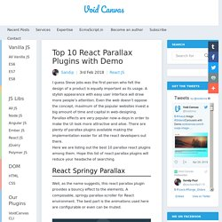 Top 10 React Parallax Plugins with Demo
