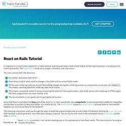 React on Rails Tutorial - HackHands