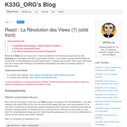 React la révolution des Views