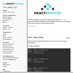 React Router Documentation
