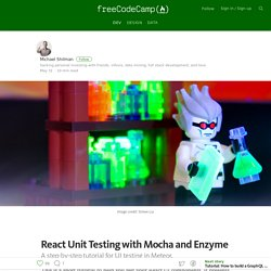 React Unit Testing with Mocha and Enzyme — Free Code Camp