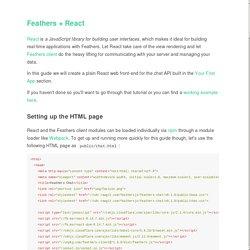 React · The FeathersJS Book