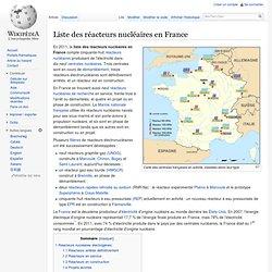Liste des réacteurs nucléaires en France