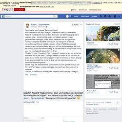 """fb - archive.is - + comments - Fijne reactie van """"collega"""" Benjamin Kikkert.... - Ruben L. Oppenheimer"""