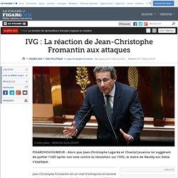 IVG : La réaction de Jean-Christophe Fromantin aux attaques
