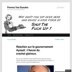 Réaction sur le gouvernement Ayrault : l'heure du crachat glaireux.