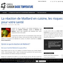La réaction de Maillard