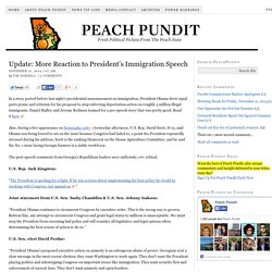 Update: More Reaction to President's Immigration Speech - Peach Pundit