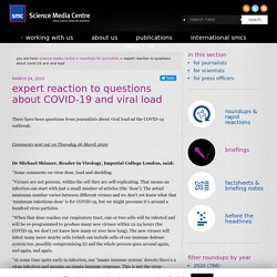 expert reaction to questions about COVID-19 and viral load
