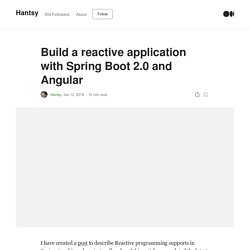 Build a reactive application with Spring Boot 2.0 and Angular