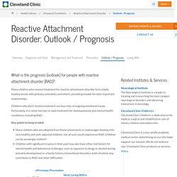 Reactive Attachment Disorder Outlook / Prognosis