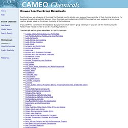 Reactive Groups | CAMEO Chemicals | NOAA