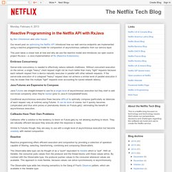 Reactive Programming in the Netflix API with RxJava