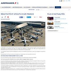 Réactivité et atouts d'Air France